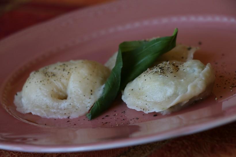 Равиоли со шпинатом и сыром Рикотта